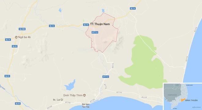 Oto cua Cong an Binh Thuan gap nan, 2 can bo tu vong hinh anh 3