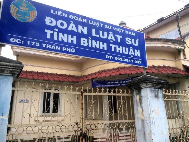 Van phong Doan luat su Binh Thuan bi trom hinh anh 1