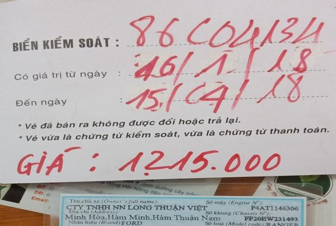 Tai xe len mang to tram BOT Song Phan lat long hinh anh