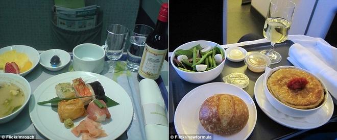 Nhung suat an hang khong ngon nhat the gioi hinh anh 10 Hãng Korean Air (trái) và Qantas Airways (phải) cũng được đánh giá cao. Ảnh: Dailymail.co.uk