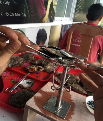 Tour lan bien kham pha nghe nuoi trai lay ngoc hinh anh 7 Cận cảnh những viên ngọc trai được thu hoạch từ trại nuôi của Công ty Ngọc Trai Hoàng Gia, bao gồm 3 loại: ngọc trai Tahiti màu đen, South sea màu vàng và South sea màu trắng.
