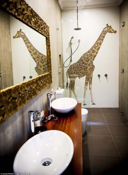 An toi cung su tu, ngu cung gau tai khach san hinh anh 8  Phòng tắm cũng có xu hướng gần gũi với thiên nhiên.