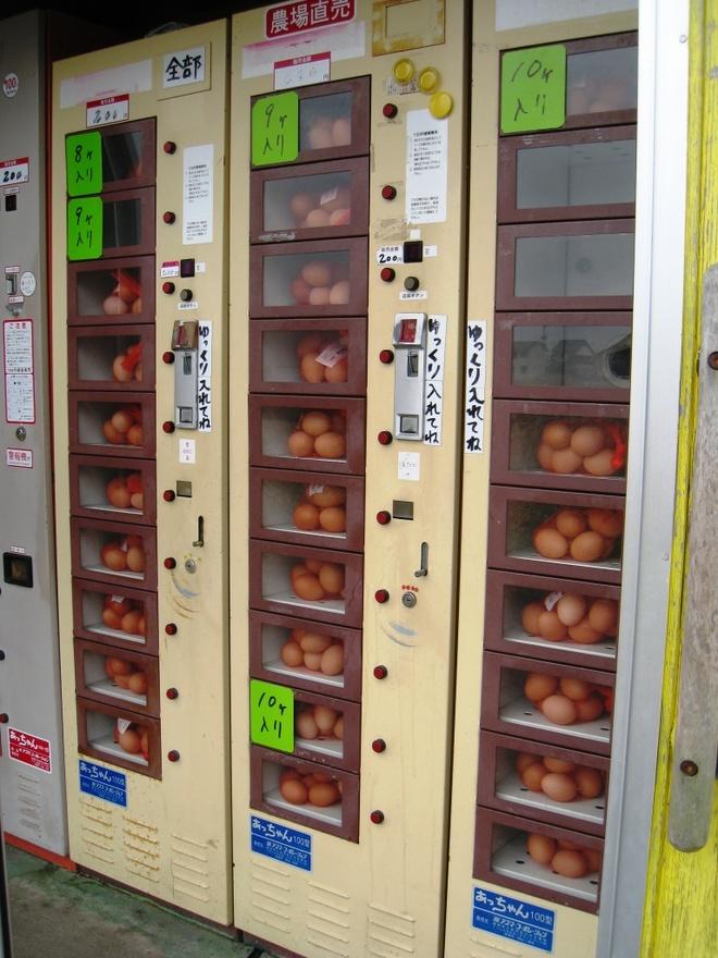 Nhung may ban hang tu dong ky la o Nhat Ban hinh anh 5 Máy bán trứng: Đôi khi bạn chỉ cần mua trứng mà không muốn phải vào siêu thị? Các máy bán trứng khá phổ biến tại Nhật.