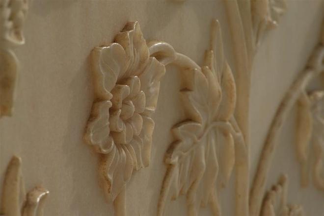 Họa tiết trang trí bên trong hầm mộ Taj Mahal.