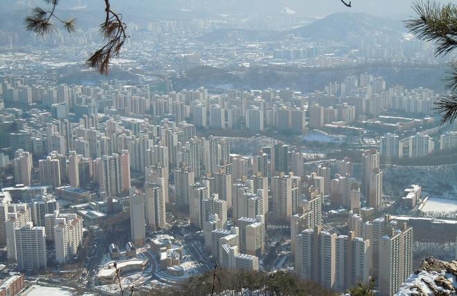Nhung dieu la lung o Han Quoc hinh anh 5 Hàng loạt tòa nhà giống hệt nhau: Ở Busan, du khách có thể thấy nhiều tòa cao ốc giống hệt nhau trên đường chân trời.
