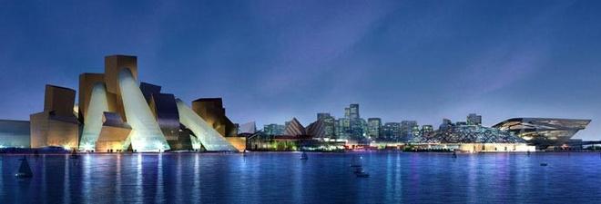 Nhung ly do khien Abu Dhabi tuyet hon Dubai hinh anh 8 8. Bảo tàng Guggenheim và bảo tàng The Louvre: Bảo tàng Guggenheim Abu Dhabi trên đảo Saadiyat đang được xây dựng và sẽ có diện tích lên tới gần 42.000 m2. Ngay cạnh đó sẽ là bảo tàng The Louvre Abu Dhabi.
