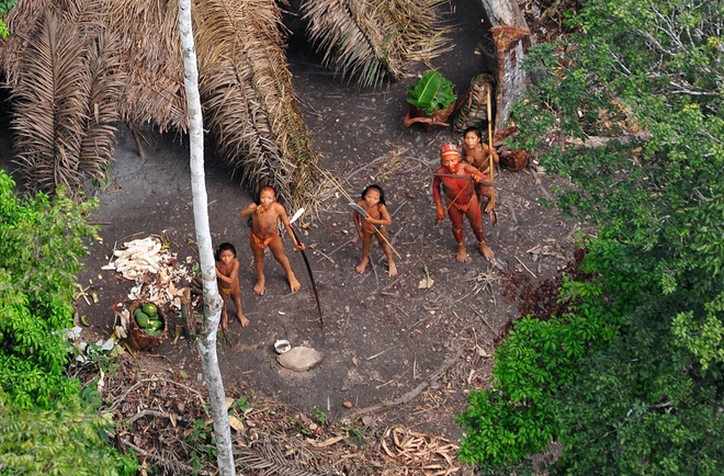 Nhung dieu ky la trong rung Amazon hinh anh 11 Bộ lạc sống tách biệt với văn minh: Trong một chuyến thám hiểm Amazon gần đây, các nhà khoa học đã ghi hình được một tộc người mới ở Amazon bằng máy bay. Nhiều người cho rằng vẫn còn các bộ tộc chưa ai biết tới khác sống rải rác trong rừng.