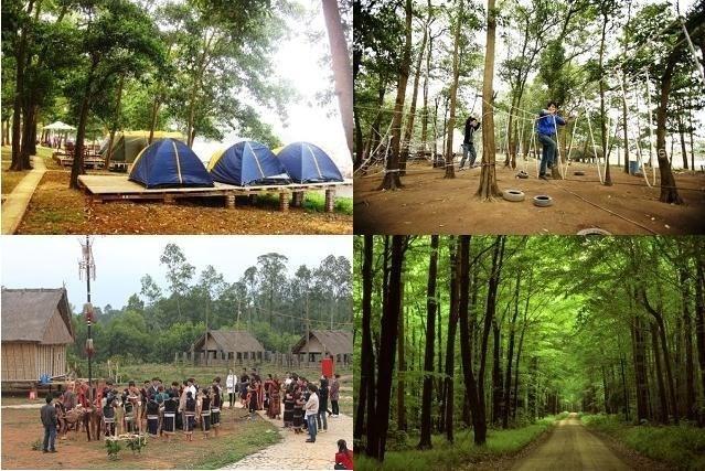 6 diem du lich gan Ha Noi cho dip nghi le 30/4-1/5 hinh anh 3 Đến với Đồng Mô, du khách có thể tham gia các hoạt động ngoài trời như cắm trại, đốt lửa trại, leo núi, đua xe đạ