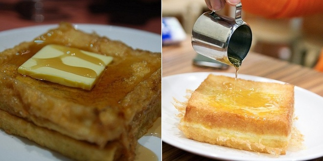 20 mon an nhin la them o Hong Kong hinh anh 12 Hong Kong French (Bánh mì kiểu Pháp): Bánh sandwich được phết bơ và thêm si-rô mạch nha hẳn sẽ làm những người thích ăn ngọt hài lòng.