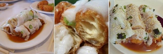 20 mon an nhin la them o Hong Kong hinh anh 13 Zhang Liang (Bánh cuốn quẩy): Tương tự như Cheong Fun, Zha Liang có lớp vỏ mềm như bánh cuốn bọc ngoài quẩy giòn.