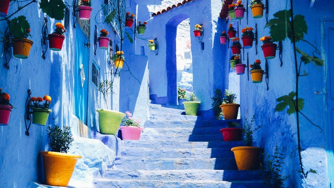 Thanh pho mau troi - bao vat cua Morocco hinh anh