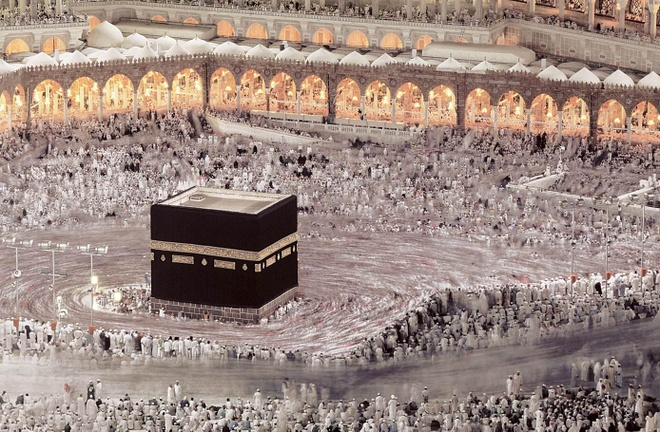 Khoi den bi an giua long thanh dia Mecca hinh anh