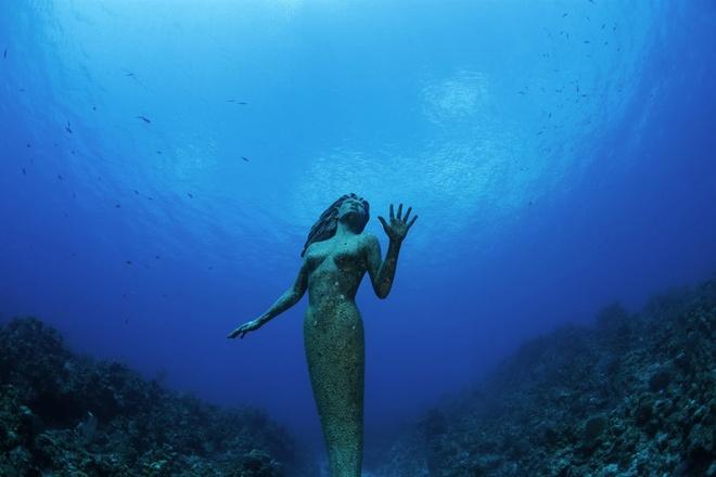 Tượng nữ thần Amphitrite, đảo Grand Cayman: Bức tượng nữ thần biển nặng 272 kg này nằm cách bờ 50 m, ở mũi tây nam của hòn đảo. Du khách có thể lặn xuống độ sâu 15 m và ngắm nhìn bức tượng có dạng nàng tiên cá này.