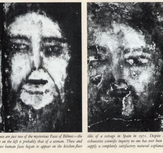 7 ngoi nha ma am dang so nhat the gioi cho dip Halloween hinh anh 4 4. Nhà Belmez (Jaen, Tây Ban Nha): Ngôi nhà này trước đây thuộc về Maria Gomez Pereira. Bên ngoài có vẻ bình thường, ngôi nhà là nơi diễn ra một bí ẩn chưa có lời giải từ năm 1971. Pereira nhận thấy một hình lạ xuất hiện trên sàn bếp nhà mình. Khi quan sát kỹ hơn, cô nhận ra hình dạng này giống một khuôn 3D của mặt người, như thể một xác chết trồi lên từ nền bê tông. Các hàng xóm của cô dùng rìu bổ xuống nền bếp và phát hiện ra vô số mặt người tương tự ở dưới lớp bê tông phía trên. Các nhà khoa học đã chứng minh được rằng các khuôn mặt này không phải do sơn lên, nhưng vẫn chưa lý giải được tại sao chúng xuất hiện. Điều đáng chú ý là nhà của Maria được xây trên một khu nghĩa địa có từ những năm 1830.