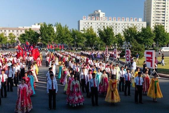 8 ngay tham thu quoc gia bi an nhat hanh tinh hinh anh 11 Vào Quốc khánh (ngày 9/9), du khách sẽ được chiêm ngưỡng màn múa tập thể tổ chức khắp đất nước Triều Tiên.