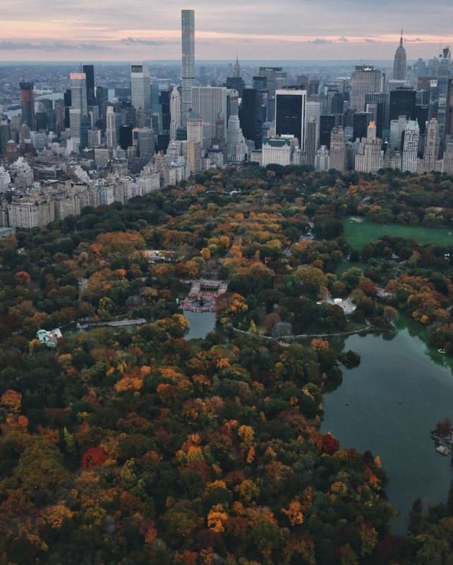 10 diem den duoc phu song day dac nhat tren Instagram hinh anh 3 3. Công viên trung tâm (New York, Mỹ): Với diện tích khổng lồ, lá phổi xanh của thành phố New York xuất hiện nhiều không kém trên Instagram.