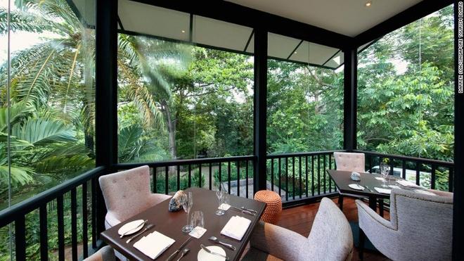 Rung mua nguyen sinh giua long Singapore hinh anh 7 Du khách có thể dùng bữa ở nhà hàng Food for Thought, Haila hay Coner House giữa không gian xanh tươi, trong lành của vườn.