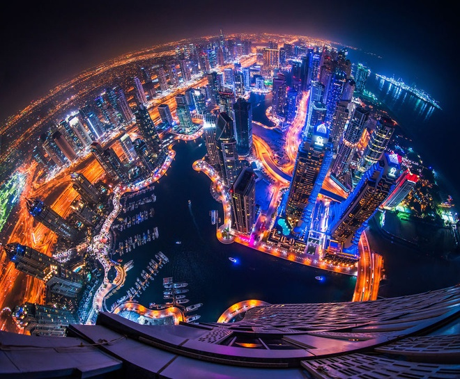 Dubai ve dem nhu thanh pho trong phim vien tuong hinh anh