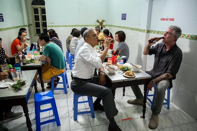Tong thong My an bun cha, di chua o Viet Nam hinh anh 6