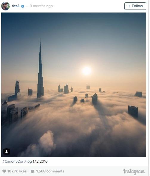 Thai tu Dubai chia se canh bien may bao phu Burj Khalifa hinh anh 1