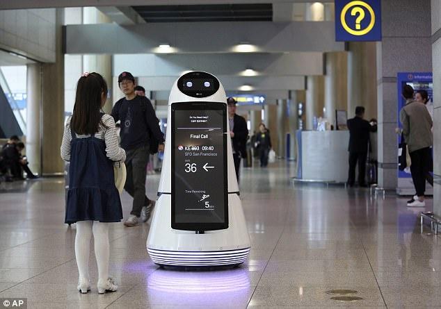 Robot tu hanh hien dai o san bay Han Quoc anh 1