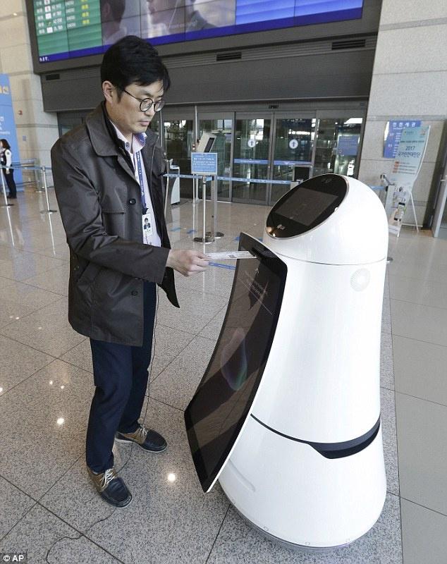 Robot tu hanh hien dai o san bay Han Quoc anh 2