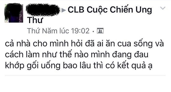 An cua song chua ung thu: Phan khoa hoc,  ruoc them benh anh 1