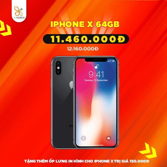 iPhone 7 Plus, Galaxy S10 5G giam den 900.000 dong tai XTmobile hinh anh 3 iphone-x-64gb-giam-gia-xtmobile.jpg