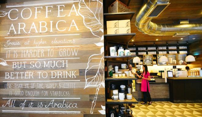 Ben trong cua hang Starbucks dau tien tai Ha Noi hinh anh 3
