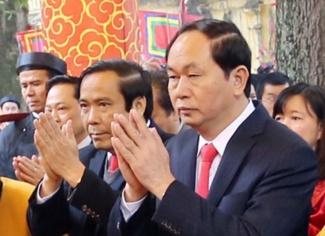 Dai tuong Tran Dai Quang dang huong tai Hoang thanh hinh anh