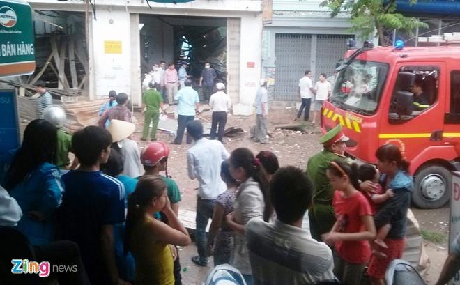 Vụ nổ xảy ra ở khu vực đông dân. Ảnh: