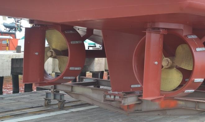Tau cuu ho hien dai nhat cua Canh sat bien Viet Nam hinh anh 7 Hệ thống chân vịt phía sau của tàu.