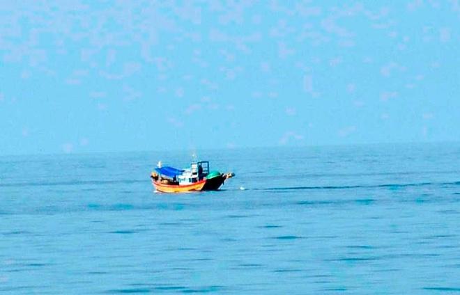 Vùng biển Phú Quý, nơi hai chiếc Su-22 bị rơi.  Ảnh: Ngọc An.
