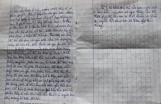 Co gai nhan dua con nghi cua tu tu: 'Co nguoi nghi ngo em' hinh anh 2 Bức thư được cho là người cha của em bé gửi Trâm về việc gửi gắm con mình cho cô nuôi dưỡng vì anh ta chờ thi hành án tử hình.