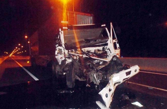 Hiện trường vụ tai nạn trên cao tốc