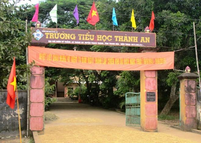 Ngoi tu van lanh luong hinh anh 1 Trường Tiểu học Thành An (huyện Thạch Thành, tỉnh Thanh Hóa) - nơi ông Nguyễn Tân Thanh công tác trước khi bị bắt.