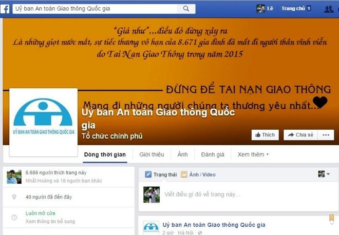 Uy ban ATGT Quoc gia cong bo trang Facebook hinh anh