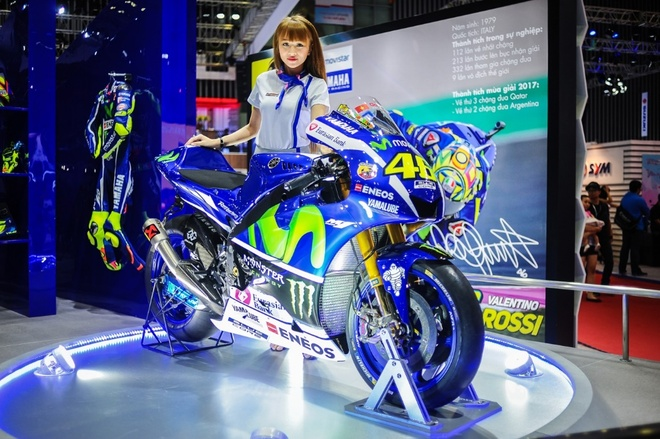 Yamaha mang trai nghiem the thao den trien lam moto, xe may Viet Nam hinh anh