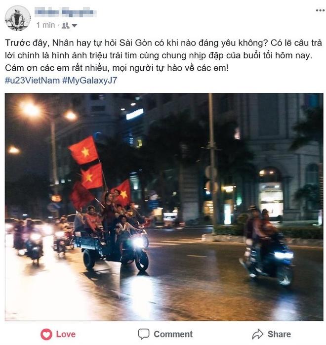 Cong dong mang Viet 'to do' Facebook bang loi cam on U23 VN hinh anh 1