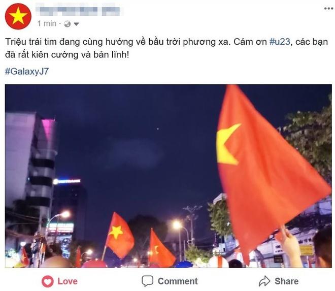 Cong dong mang Viet 'to do' Facebook bang loi cam on U23 VN hinh anh 2