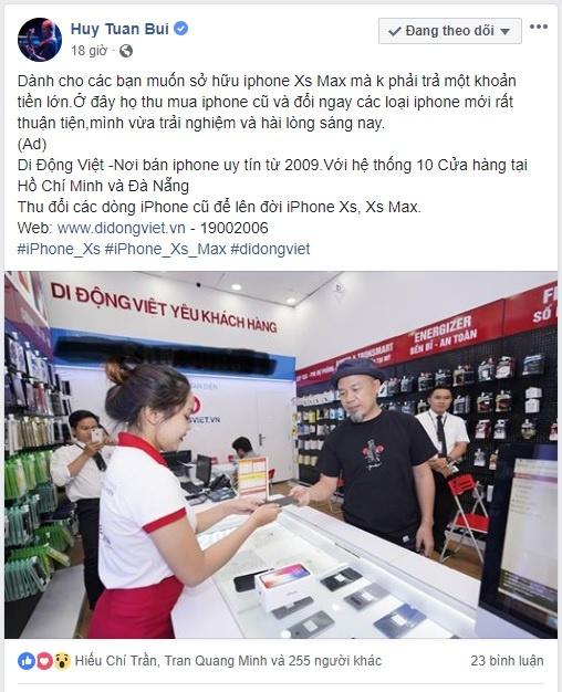 Cach nhac si Huy Tuan tiet kiem 18 trieu dong khi mua iPhone XS Max hinh anh 1