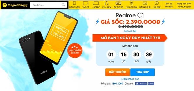 Hon 10.000 luot dat mua Realme C1 chi sau 5 ngay hinh anh 1