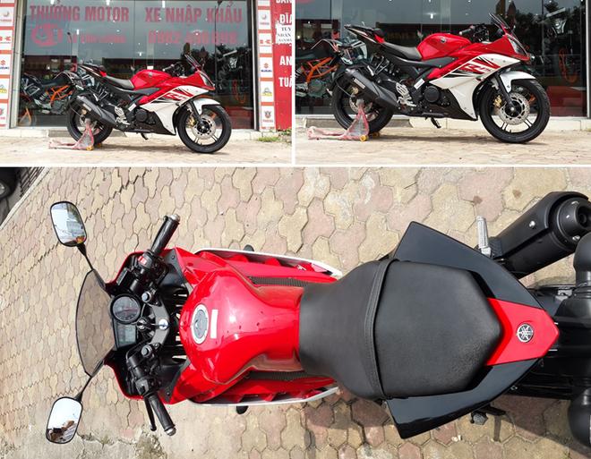 Yamaha R15 2014 mau do Dunhill gia 105 trieu dong tai Ha Noi hinh anh 1