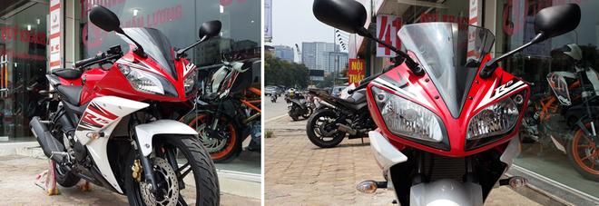 Yamaha R15 2014 mau do Dunhill gia 105 trieu dong tai Ha Noi hinh anh 2