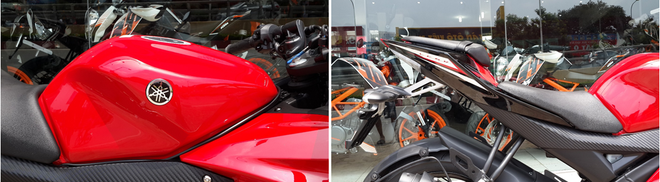 Yamaha R15 2014 mau do Dunhill gia 105 trieu dong tai Ha Noi hinh anh 5