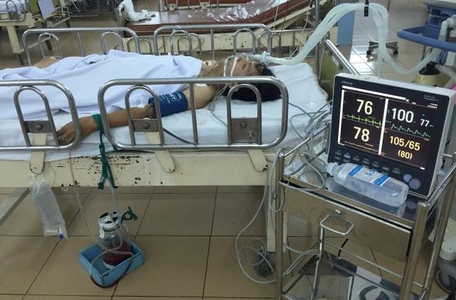 Sức khỏe Nguyễn Quang Hậu tiến triển tốt, tim đập trở lại, có huyết áp tại phòng hồi sức cấp cứu.
