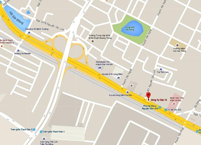 CSGT Ha Noi bi oto tong, keo le hang chuc met hinh anh 3 Vị trí xảy ra vụ việc.