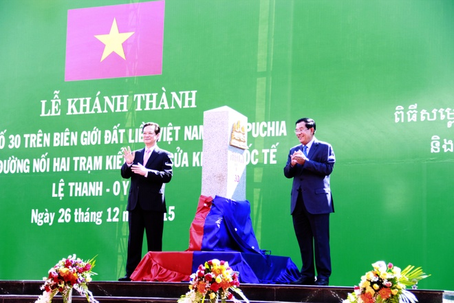Viet Nam - Campuchia khanh thanh cot moc bien gioi so 30 hinh anh 1