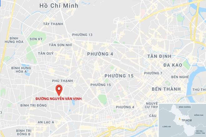 Roi thang may o TP.HCM, 1 nguoi chet, 2 bi thuong hinh anh 3 map_tanphu_roithangmay.jpg