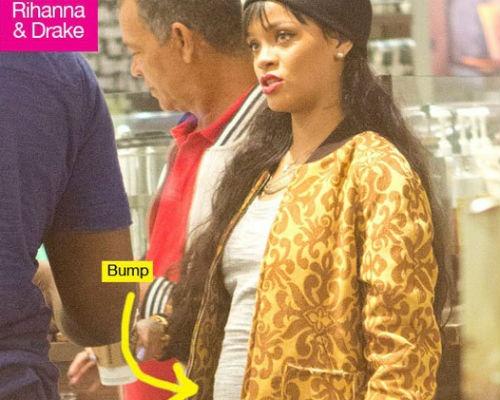Rihanna dinh nghi an bau bi hinh anh